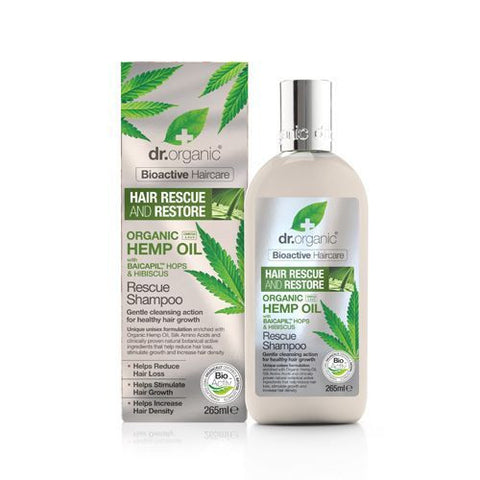 Dr Organic Hemp Oil Rescue and Restore Shampoo 265ml