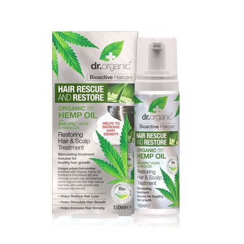 Dr Organic Hemp Oil Restoring Hair and Scalp Treatment 150ml