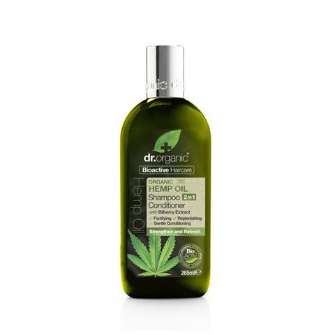 Dr Organic Hemp Oil 2 in 1 Shampoo and Conditioner 265ml