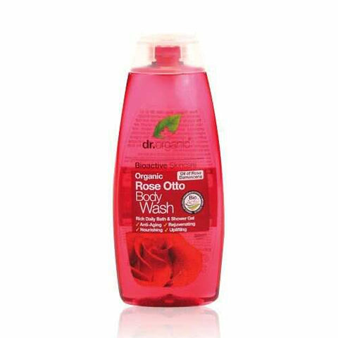 Dr Organic Rose Otto Body Wash 265ml - May Special Offer