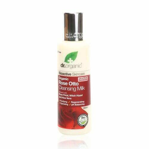 Dr Organic Rose Otto Cleansing Milk 150ml - May Special Offer