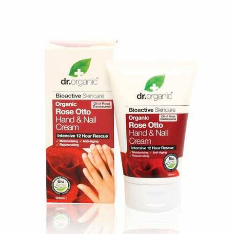 Dr Organic Rose Otto Hand and Nail Cream 125ml