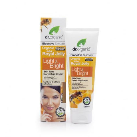 Dr Organic Royal Jelly (Light n Bright) Whitening Cream 125ml