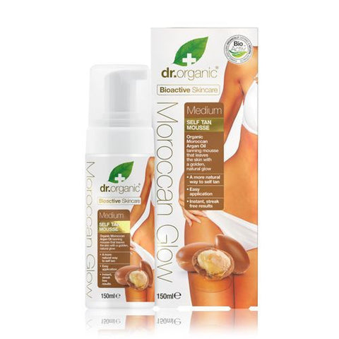 Dr Organic Moroccan Glow Medium Self-Tan Mousse 150ml