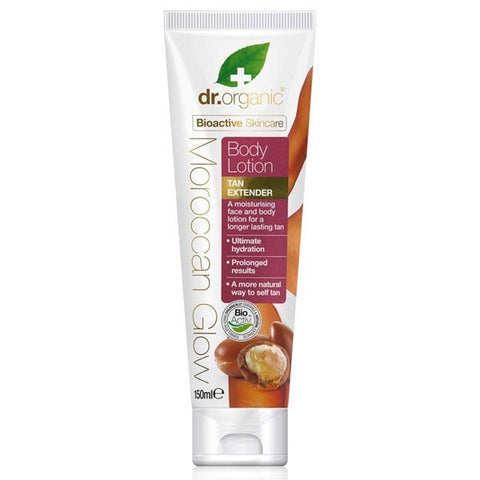 Dr Organic Moroccan Glow Body Lotion Tan Extender 150ml