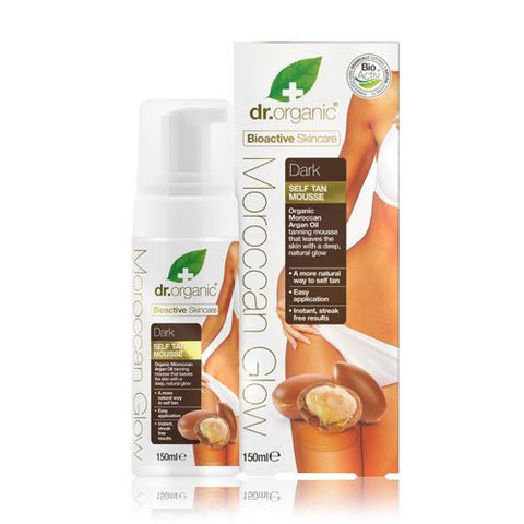 Dr Organic Moroccan Glow Dark Self-Tan Mousse 150ml