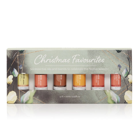 Christmas Favourites Essential Oil Gift Pack - 6 Pack - ECO Aroma