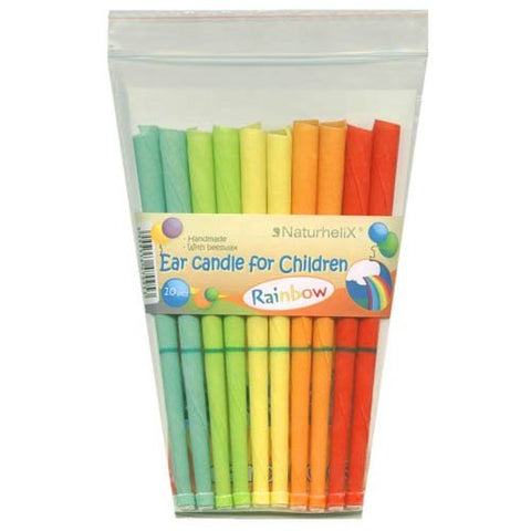 Children's Ear Candles (Aromatherapy) Rainbow - Chamomile Essential Oil - 5 Pairs - Organic - Naturhelix Australia - October  Special Offer