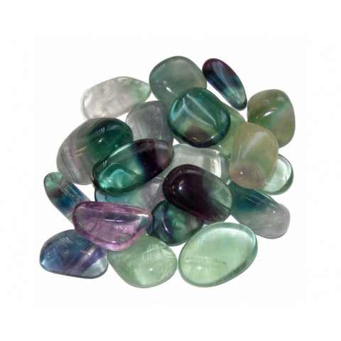 Rainbow Fluorite Tumbled Stone (A Grade) - Focus, Protection and Grounding