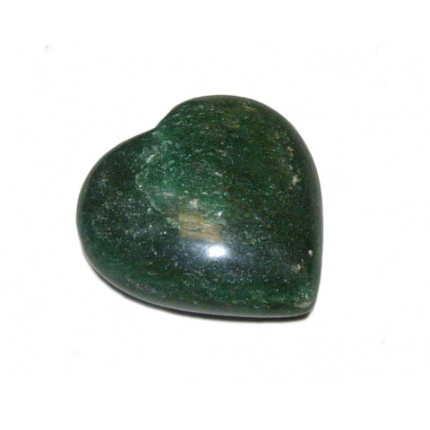Green Aventurine Puff Heart 70mm - Comfort, Luck, Healing and Love