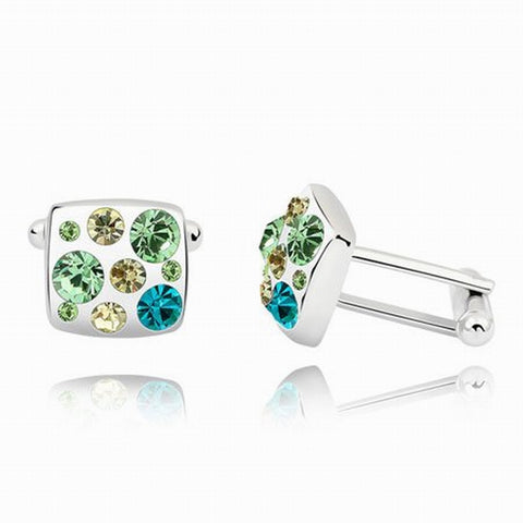 Swarovski Austrian Crystal Elements Cuff Links -The Domino Effect - Business Wear - Formal Wear - School Formals - Father's Day Gift Idea