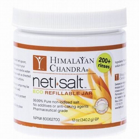 Himalayan Chandra Porcelain Neti Pot Salt 340g - Non Iodised