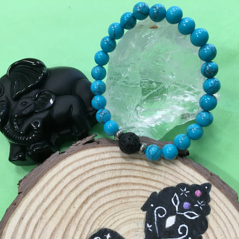 Kid's Turquoise and Lava Stone Aroma Diffuser Bracelet - Communication,  Release and Protection - The Holistic Shop in Wagga Wagga