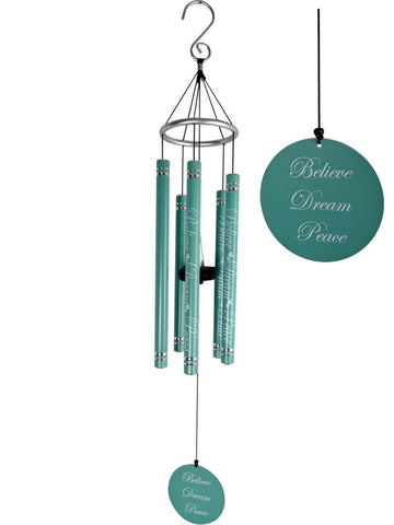 Inspirational Quotes  Wind Chime - Metal Tubes - Feng Shui - Home Decor - 91 cm