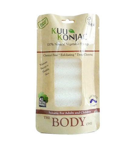 KUU Konjac 6 Wave Body Sponge - for all skin Types
