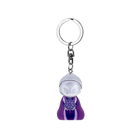 Little Buddha Figurine Keychain - Key Ring - Anything is Possible - Gift Idea