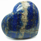 Lapis Lazuli Puff Crystal Heart - Stress, Communication, Intuition and Inner Power - Crystal Healing