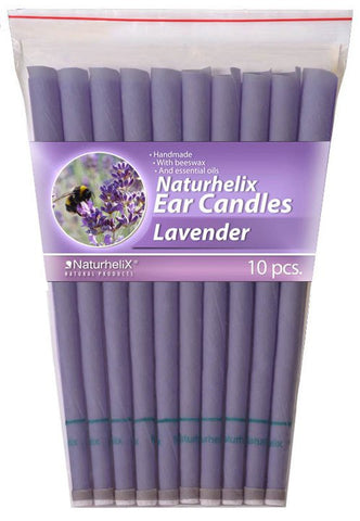 Ear Candles (Aromatherapy) Lavender Essential Oil - 5 Pairs - Headache and Stress - Organic - Naturhelix Australia