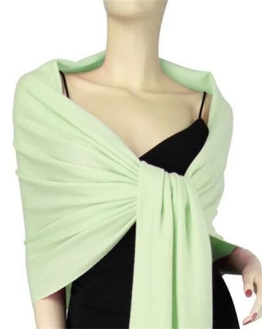 Chakra Pashmina (Light Green) Heart