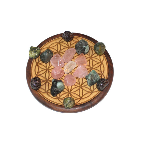 Love Crystal Grid - Sacred Geometry - Crystal Healing - Gift Idea