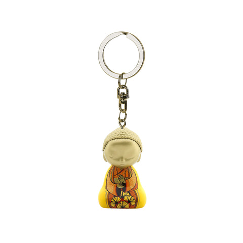 Little Buddha Figurine Keychain - Love is - Mother's Day Gift Idea