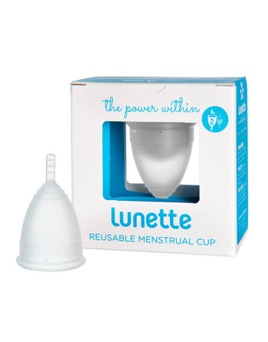 Lunette Menstrual Cup Clear - Model 2 - normal to heavy flow