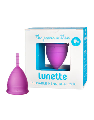 Lunette Menstrual Cup Violet - Model 1 - light to normal flow -reusable menstrual cup