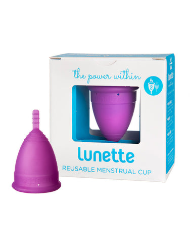 Lunette Menstrual Cup Violet - Model 2 - normal to heavy flow -reusable menstrual cup