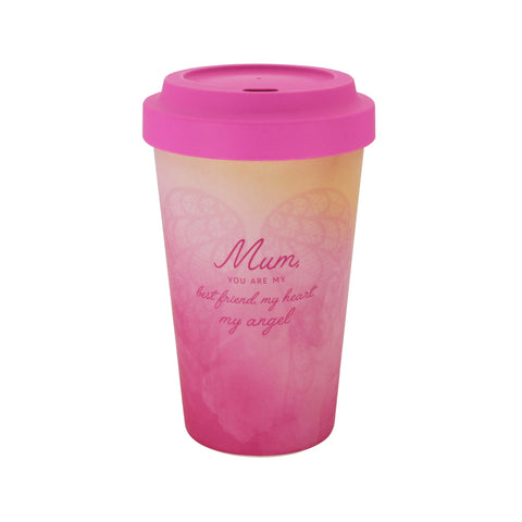 MUM - ECO Friendly Bamboo Travel Coffee Drinking Mug - Gift idea
