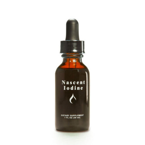 Detoxified Nascent Iodine 30ml - 600 drop Bottle - 2% Strength - Atomic Form - Thyroid Health