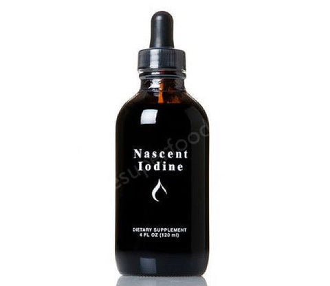Detoxified Nascent Iodine 118ml - 2390 drop Bottle - 2% Strength - Atomic Form - Thyroid Health
