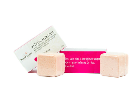 Bath Cubes - Rose Geranium - Box 2