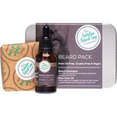 Gents Beard Pack includes Shampoo Bar and Oil - Father's Day Gift Idea