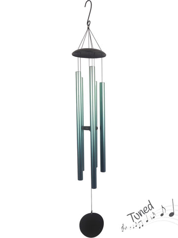 Natures Melody Tuned Wind Chime Rain Forest- Aqua Metal Tubes - Feng Shui - Home Decor - 145cm