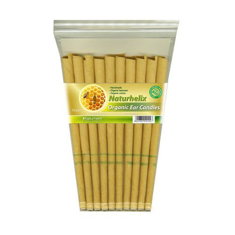 Ear Candles BIO Certified Organic | Pack of 10 | 5 Pairs | Naturhelix