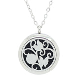 Butterfly Aromatherapy Essential Oil Diffuser Necklace - Silver 30mm - Gift Idea