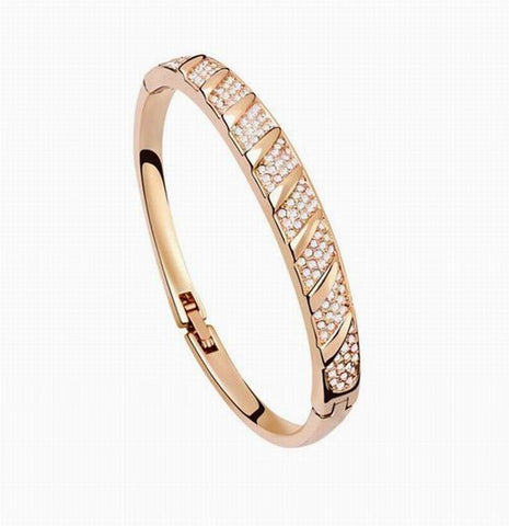 New PAVE Crystal Bangle Bracelet - 18k Gold Plate - made with Swarovski Crystal Elements - Gift idea