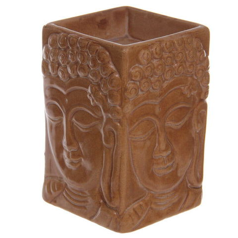 Ceramic Crackle Glazed Thai Buddha Oil Burner