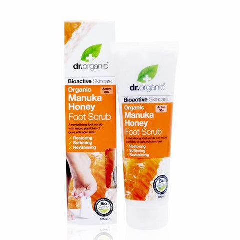 Dr Organic Manuka Honey Foot Scrub 125ml - May Special Offer