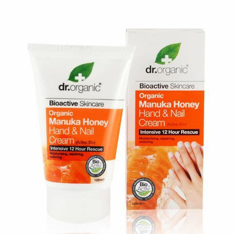 Dr Organic Manuka Honey Hand and Nail Cream 125ml - May Special Offer