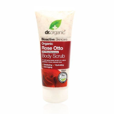 Dr Organic Rose Otto Body Scrub 200ml - February Special Offer