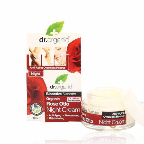 Dr Organic Rose Otto Night Cream 50ml - May Special Offer