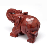Red Jasper Elephant Carving Medium 60mm - Energy, Protection and Healing - Crystal Healing - Gift Idea