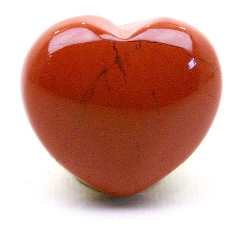 Red Jasper Crystal Heart 30mm - Energy, Protection and Healing - Crystal Healing - Gift Idea