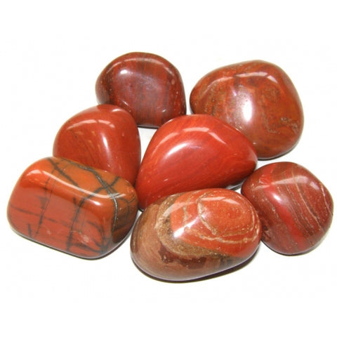 Red Jasper Tumbled Stone - Energy, Protection and Healing