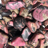 Rhodonite Tumbled Stone MEDIUM - Love of Self/Others, Vitality and Support - Crystal Healing