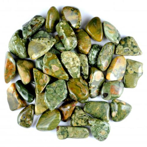 Rhyolite Rainforest (Australia) Tumbled Stone - Protection, Strength and Spiritual Contact - Crystal Healing