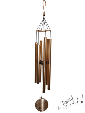 Natures Melody Tuned Wind Chime - Rose Gold Metal Tubes - Feng Shui - Home Decor - 100 cm