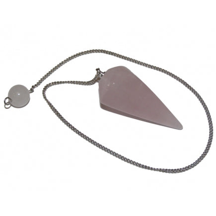 Rose Quartz Faceted Pendulum - Love • Friendship • Partnership