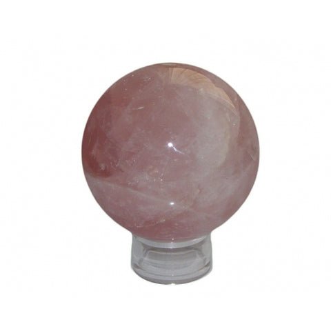 Rose Quartz Sphere - Love, Friendship and Partnership - Crystal Healing - Valentine's Day Gift Idea